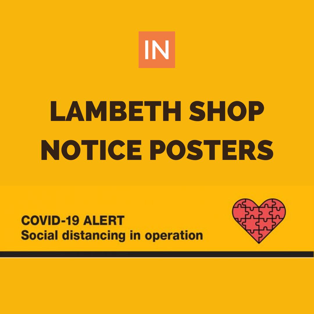 INSTREATHAM LAMBETH SHOP NOTICE POSTERS